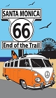 Route 66 Santa Monica VW Sticker