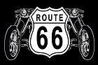 Route 66 Shield And Bike Large Sticker