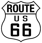 Route 66 Highway Shield Sticker