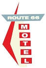 Route 66 Motel Sign Large Sticker