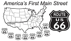 Route 66 America's First Main St Sticker