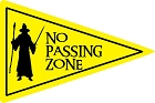 No Passing Zone Large Sticker