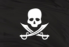 Pirate Flag Jolly Roger Large Sticker