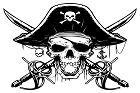 Pirate Skull And Crossbones Large Sticker