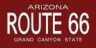 Route 66 AZ Plate - Red Sticker