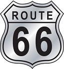Route 66 Shield Sticker