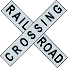 Large Railroad Xing Die Cut Sign