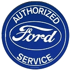 Ford Service 24 inch Large Round Sign