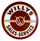 Willy's 24 inch Large Round Sign