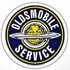 Oldsmobile Service 24 inch Large Round Sign