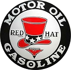 Red Hat Motor Oil 24 inch Large Round Sign
