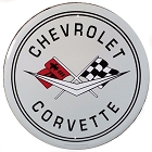 Corvette 24 inch Large Round Sign