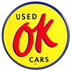 OK Used Cars 24 inch Large Round Sign