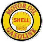 Shell Logo 24 inch Large Round Sign