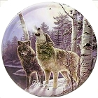 Howlin' - Meger - Wolves 12 inch Round Sign