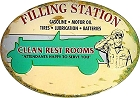 Filling Station Die Cut Sign
