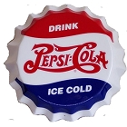 Pepsi Molded Bottle Cap Die Cut Sign
