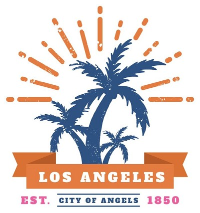 CA Los Angeles Est 1850 Large Sticker