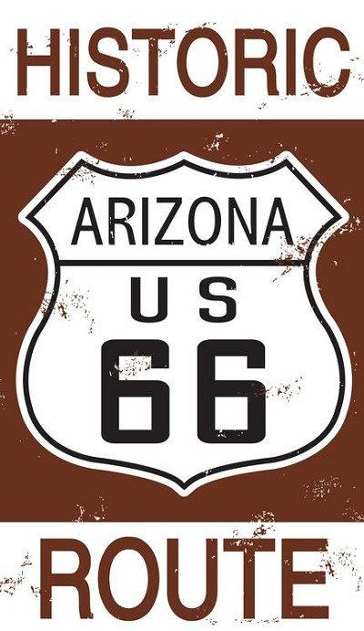 Route 66 AZ Historic Sign Sticker