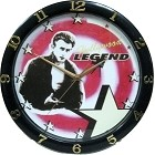 Dean 12 in. Round Plastic Wall Clock
