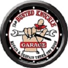 Busted Knuckle Wrench 12 in Round Wall Clock