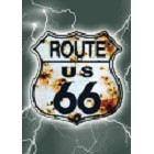 Route 66 Shield w/ Lightning Magnet