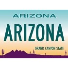 Arizona License Plate Magnet