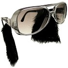Large Silver Sunglasses w/Sideburns