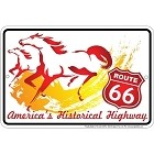 Route 66 Horses Sm. Parking Sign