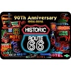Route 66 90th Neon Sm. Parking Sign