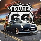 Route 66 Sinner Metal Sign