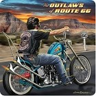 Route 66 Outlaws Metal Sign
