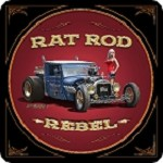 Rat Rod Rebel Metal Sign