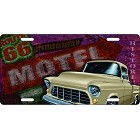 Route 66 Motel License Plate