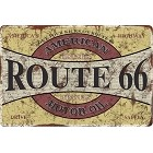 Route 66 Oil Sm. Parking Sign