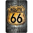 Route 66 - On Wood Sm. Parking Sign