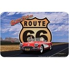 Rt. 66 Red Corvette Sm. Parking Sign