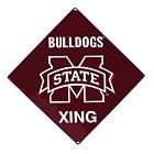 Mississippi State Bulldogs Crossing Sign