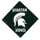 Michigan State Spartans Crossing Sign