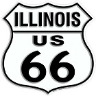 Route 66 IL Shield Sign