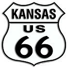 Route 66 KS Shield Sign