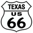 Route 66 TX Shield Sign