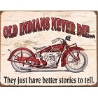 Indian Motorcycle - Old Indian Metal Sign