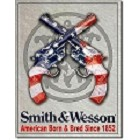 Smith & Wesson American Born Metal Sign