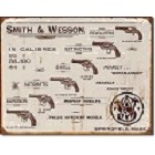 Smith & Wesson Revolvers Metal Sign