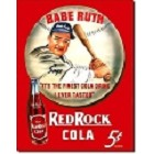Babe Ruth Red Cola Metal Sign