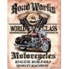 Legends - Road Works Motorcycles Metal Sign