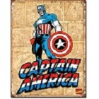 Captain America Panels Metal Sign