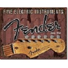 Fender Guitar - Head Stock Metal Sign