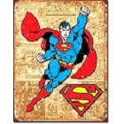 Superman Weathered Metal Sign